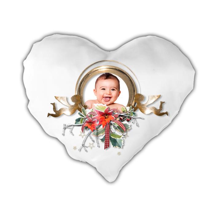 Vankúšik srdcový s vianočným motívom 6b80924715a