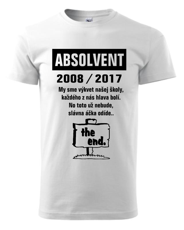 02607470ce6 Absolventské tričko - The End - Vaše darčeky